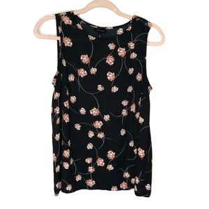 Who what wear floral button sleeveless top
